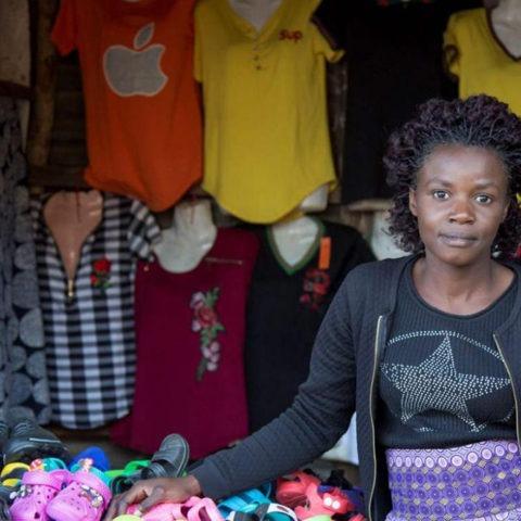 Denia Tembo, 23 ans, propriétaire d'une boutique de vêtements ©Chiara Frisone